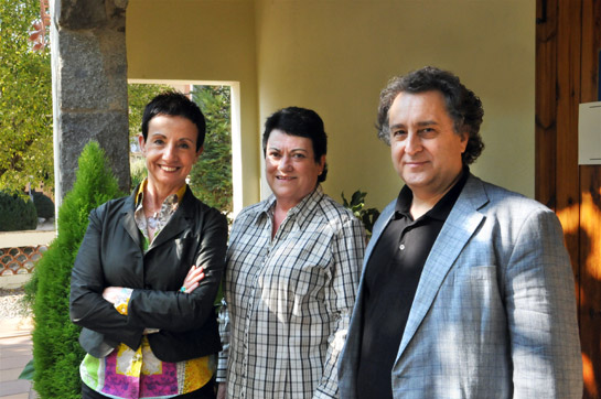 Carme Ruscalleda, Maria Rosa Cullell i Josep Pons